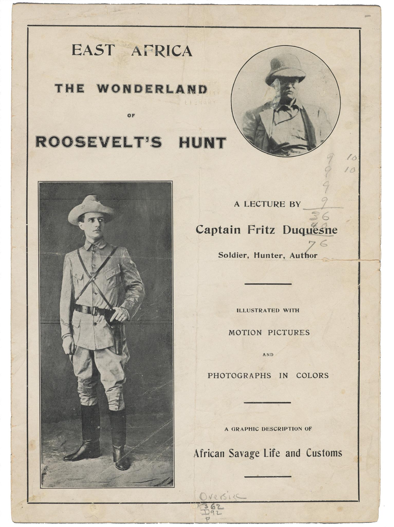 Duquesne's lecture pamphlet