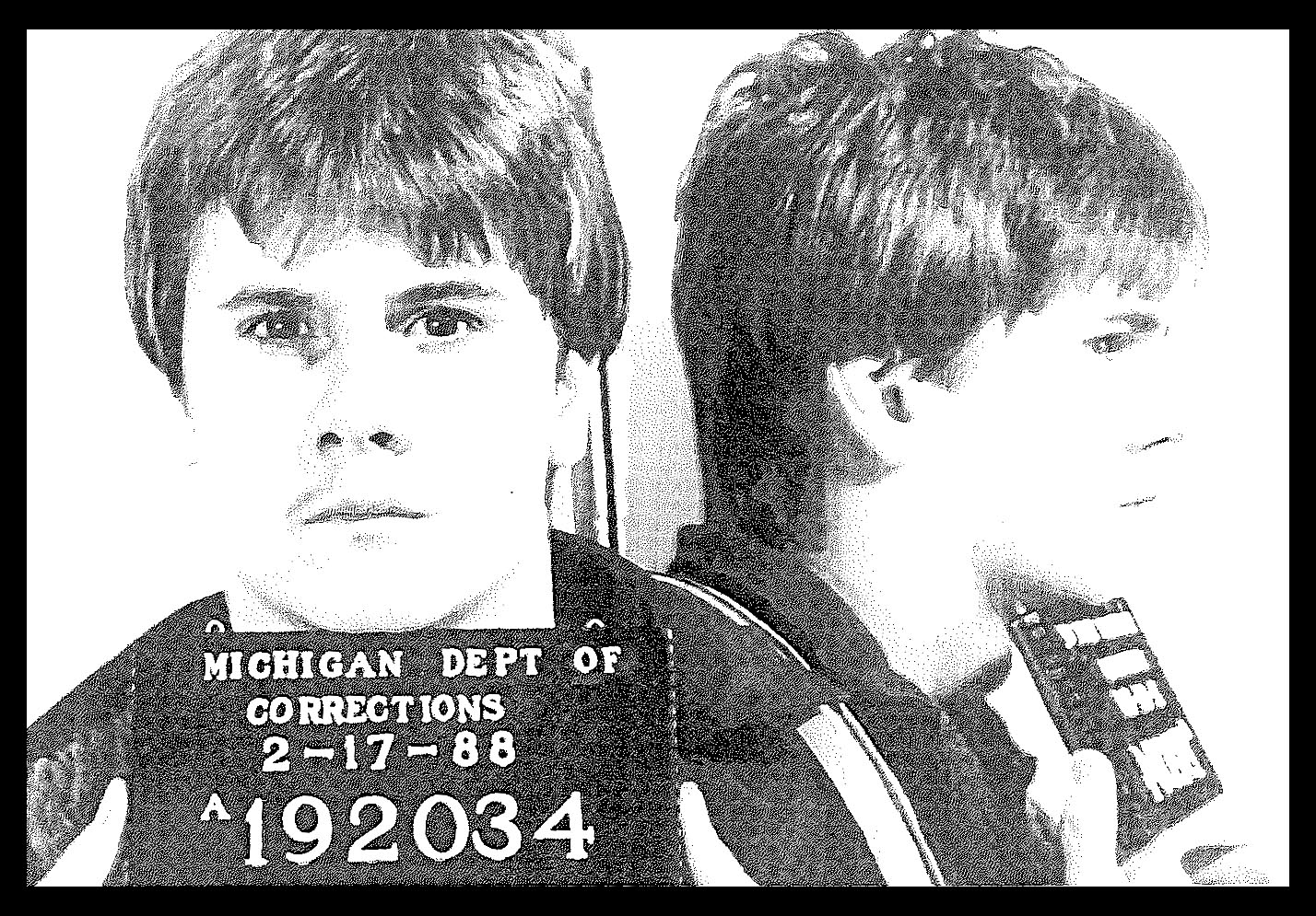 Police photo of Richard Wershe Jr., 1988. Photo: Courtesy of the Michigan Department of Corrections