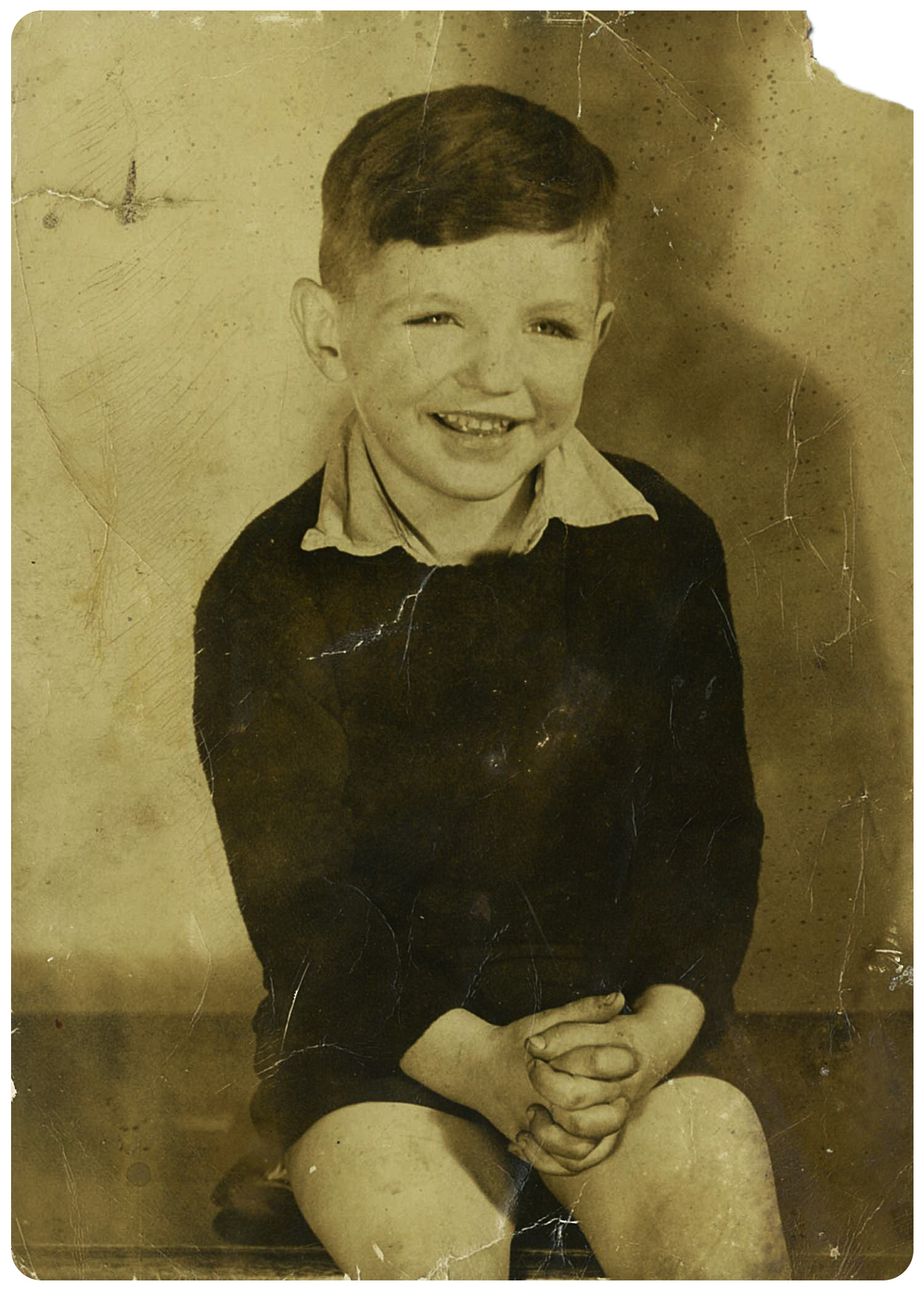 Paddy Mitchell as a boy. Photo: Courtesy of Kevin Mitchell