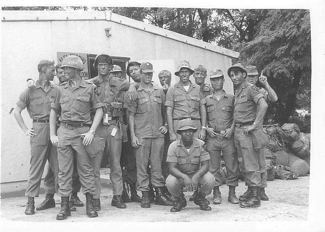 Members of Third Platoon. (Courtesy of Wayne Johnson)